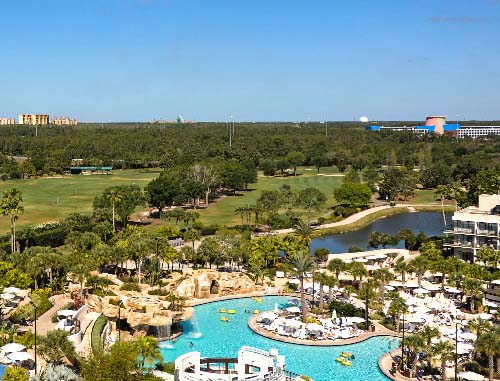 Aerial view of Hawk's Landing Golf Club At the Orlando World Center Marriott